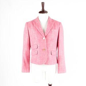 TALBOTS Petites – Pink Tweed Blazer Jacket – 10